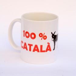 "Mug ""100% Català 200% Burro"""